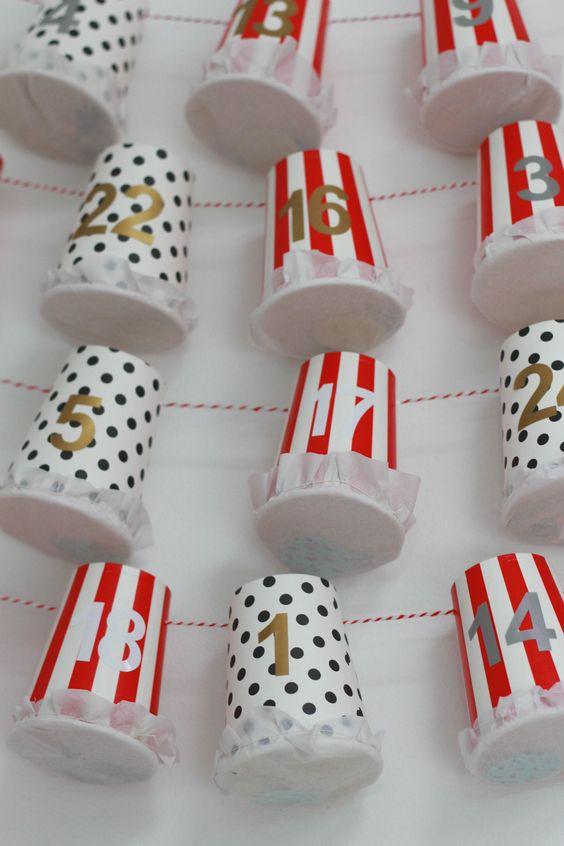 Calendrier avent gobelets carton