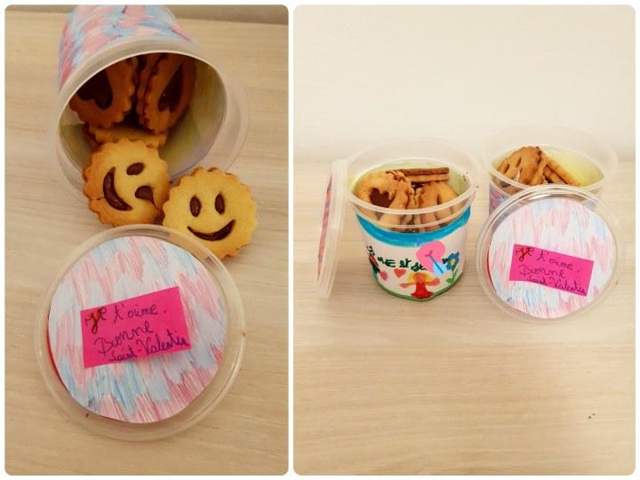 Des biscuits pleinsd'amour